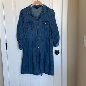 F And F denim dress.